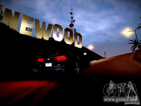 Chevrolet Camaro SS for GTA San Andreas inner view