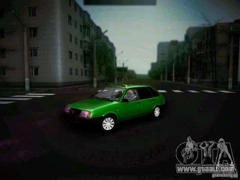 Vaz 2109 short-kryloe Taxi for GTA San Andreas left view