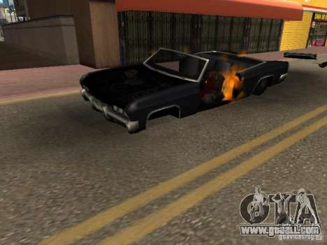 Wrecked car fix for GTA San Andreas second screenshot