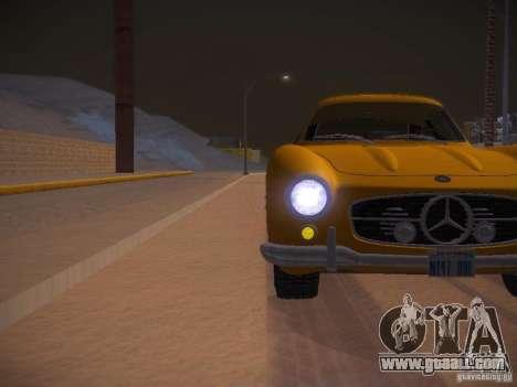 Mercedes-Benz 300SL for GTA San Andreas upper view