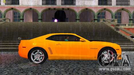 Chevrolet Camaro SS 2010 for GTA Vice City right view