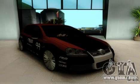 Volkswagen Golf R32 for GTA San Andreas inner view