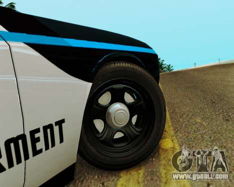 Dodge Challenger SRT8 2010 Police for GTA San Andreas back view