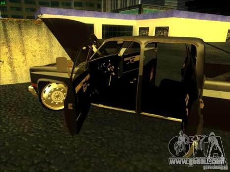 Chevrolet Silverado Towtruck for GTA San Andreas inner view