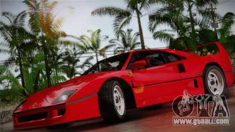 Ferrari F40 1987 for GTA San Andreas back view