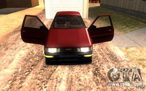 Toyota Corolla Levin GTV 3-door (AE86) for GTA San Andreas side view