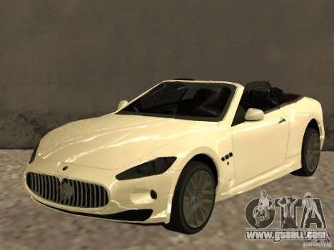Maserati GranCabrio 2011 for GTA San Andreas
