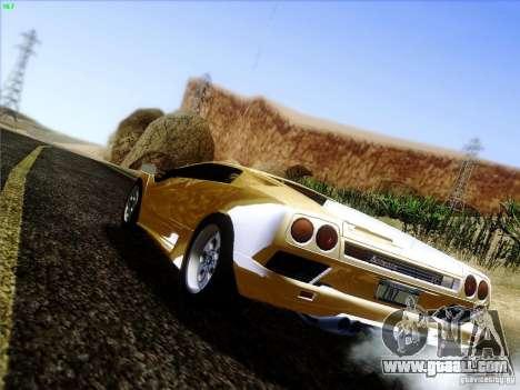 Lamborghini Diablo VT 1995 V3.0 for GTA San Andreas back left view