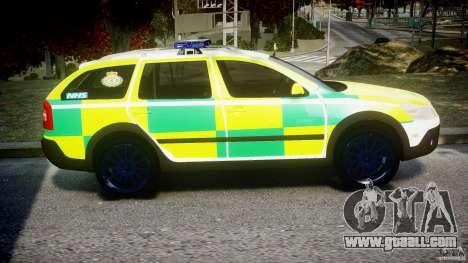 Skoda Octavia Scout Paramedic [ELS] for GTA 4 back view