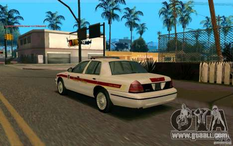 Ford Crown Victoria South Dakota Police for GTA San Andreas left view