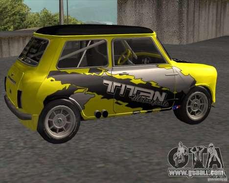 Mini Cooper S Titan Motorsports for GTA San Andreas left view