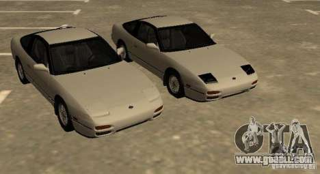 Nissan 240SX (stock) for GTA San Andreas back left view
