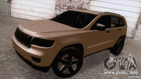 Jeep Grand Cherokee 2012 for GTA San Andreas back left view