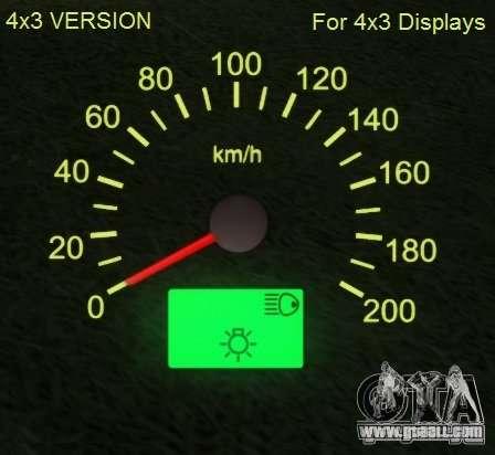 Speedometer of Lada 2110 for GTA San Andreas