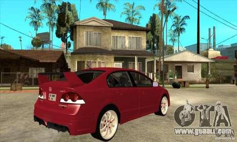 Honda Civic Mugen RR for GTA San Andreas right view