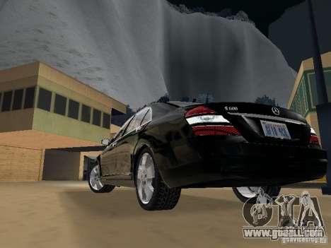 Mercedes-Benz S600 for GTA San Andreas interior