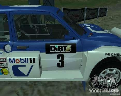MG Metro 6M4 Group B for GTA San Andreas right view