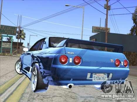 Nissan Skyline GT-R 32 1993 for GTA San Andreas left view