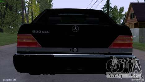 Mercedes-Benz 600SEL for GTA San Andreas back left view