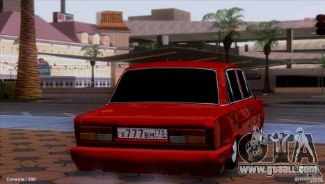 VAZ 2107 car tuning for GTA San Andreas back left view