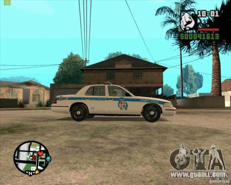 Ford Crown Victoria Baltmore County Police for GTA San Andreas back left view