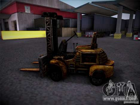 Forklift from the TimeShift for GTA San Andreas right view