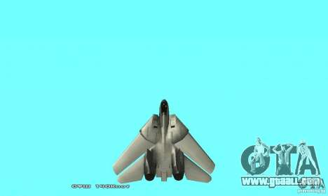 F14W Super Weirdest Tomcat Skin 2 for GTA San Andreas upper view