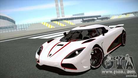 Koenigsegg Agera R 2012 for GTA San Andreas