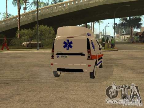 Dacia Logan Ambulanta for GTA San Andreas right view