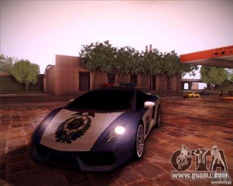 Lamborghini Gallardo LP560-4 Undercover Police for GTA San Andreas