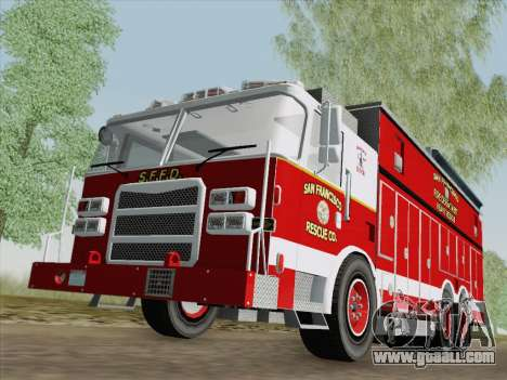Pierce Walk-in SFFD Heavy Rescue for GTA San Andreas left view