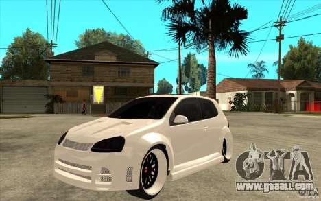 VW Golf 5 GTI Tuning for GTA San Andreas
