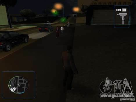 HUD and weapons from GTA IV for GTA San Andreas third screenshot
