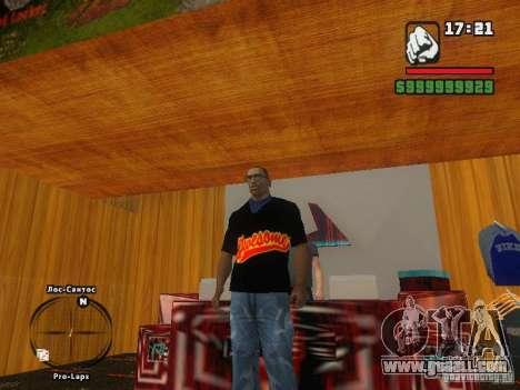 THE MIZ T-shirt for GTA San Andreas