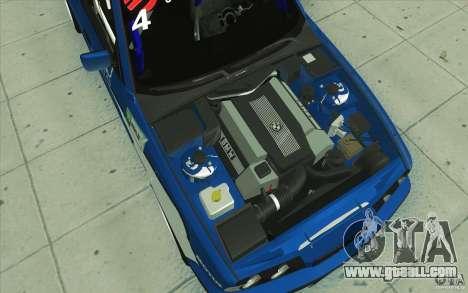 BMW E34 V8 for GTA San Andreas bottom view