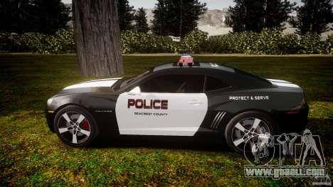 Chevrolet Camaro Police (Beta) for GTA 4 left view