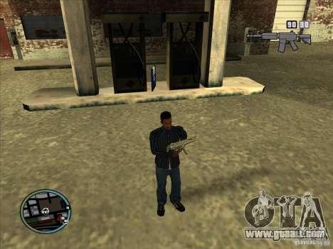 SA IV WEAPON SCROLL 2.0 for GTA San Andreas fifth screenshot