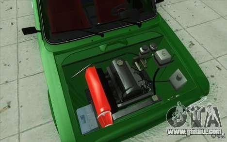 Vaz-2101 Lada Sport for GTA San Andreas bottom view