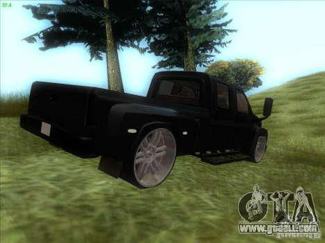 GMC C4500 Pickup DUB Style for GTA San Andreas back left view