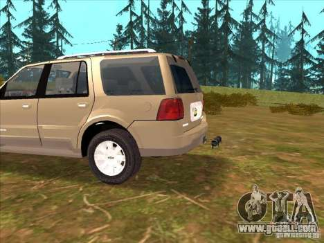 Lincoln Navigator for GTA San Andreas inner view