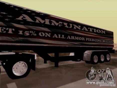 Trailer, Peterbilt 377 for GTA San Andreas back view