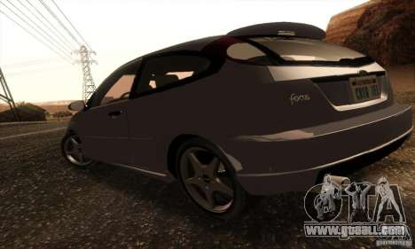 Ford Focus SVT TUNEABLE for GTA San Andreas back left view