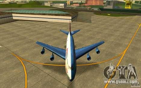 B-747 American Airlines Skin for GTA San Andreas inner view