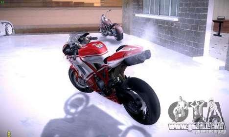 Ducati 1098 for GTA San Andreas inner view