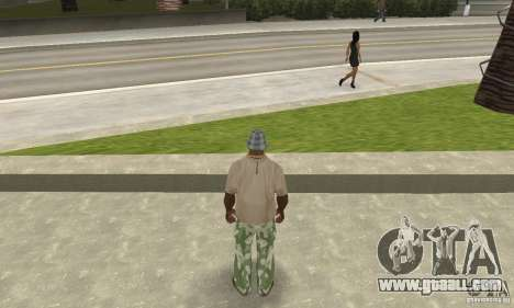 Camouflage pants for GTA San Andreas
