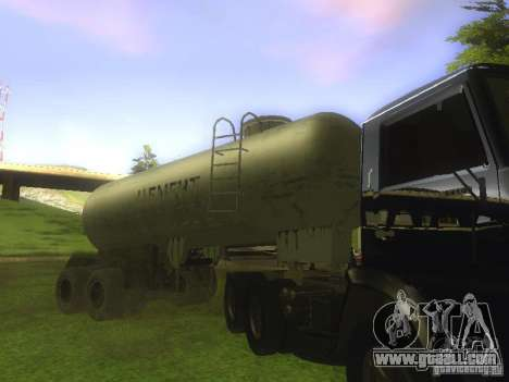 Trailer Cement TC-12 for GTA San Andreas right view