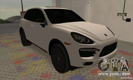 Porsche Cayenne Turbo Black Edition for GTA San Andreas left view