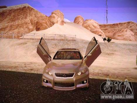 Lexus I SF for GTA San Andreas bottom view