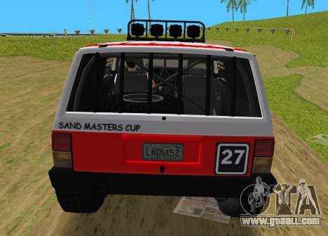 Jeep Cherokee 1984 Sandking for GTA Vice City right view