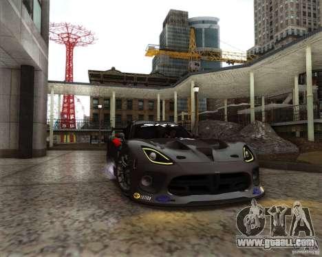 SRT Viper GTS-R V1.0 for GTA San Andreas inner view